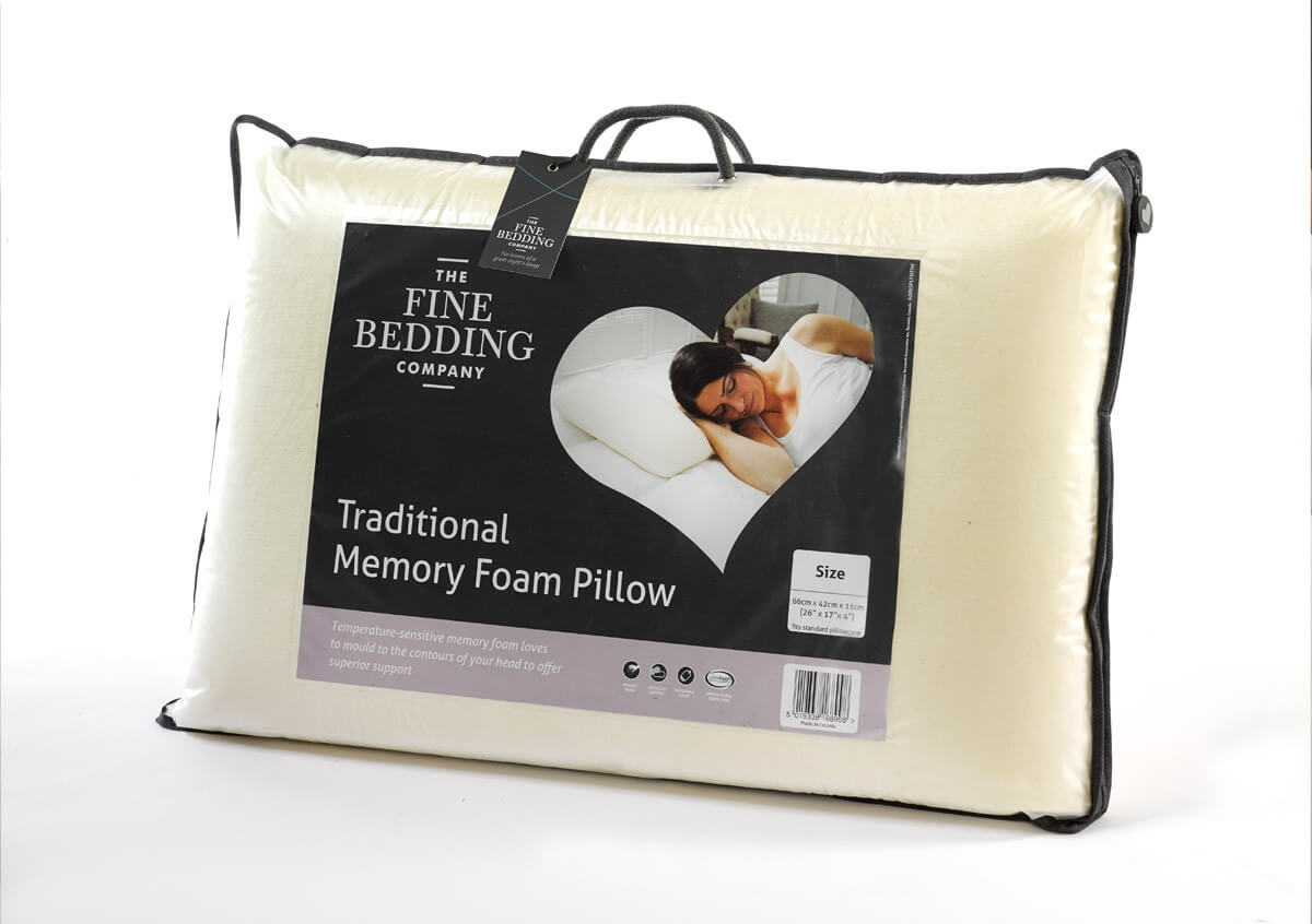 Traditional Memory Foam Pillow - The Fine Bedding Company