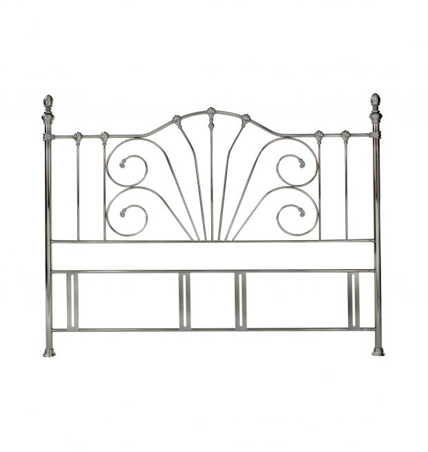 Rebecca Headboard Antique Nickel