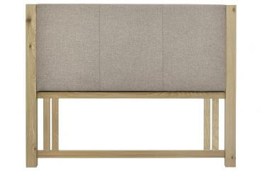 Turin aged oak upholstered headboard
