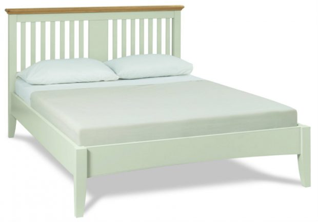 Hampstead Bedstead Soft Grey and Oak