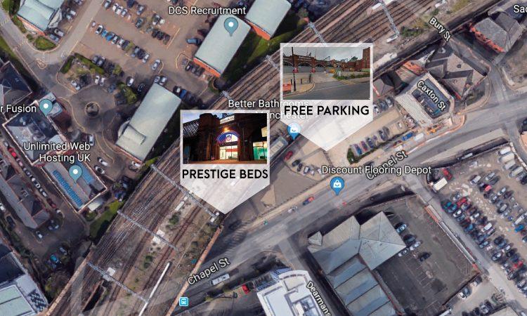 prestige beds salford parking