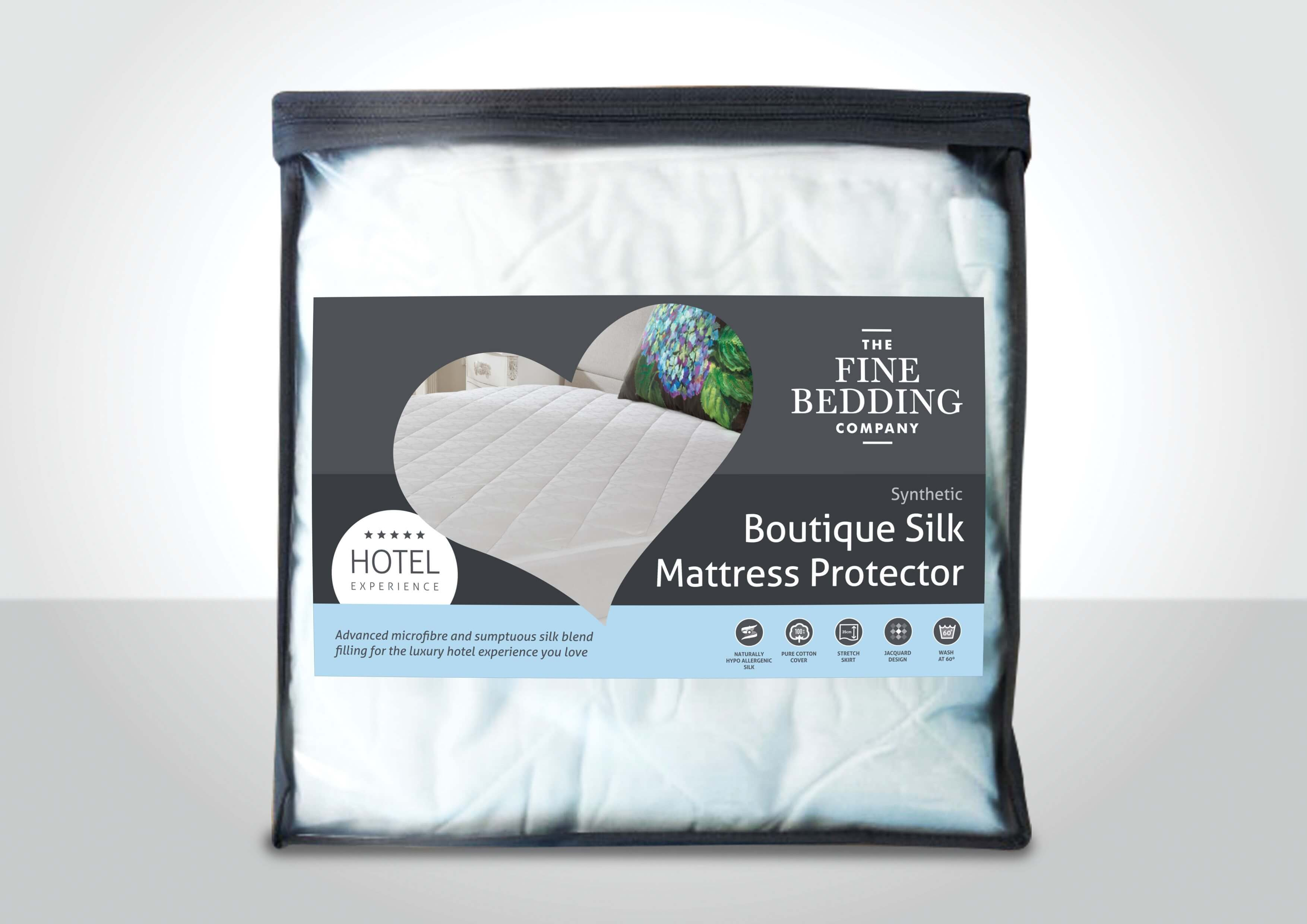Boutique Silk Mattress Protector - The Fine Bedding Company