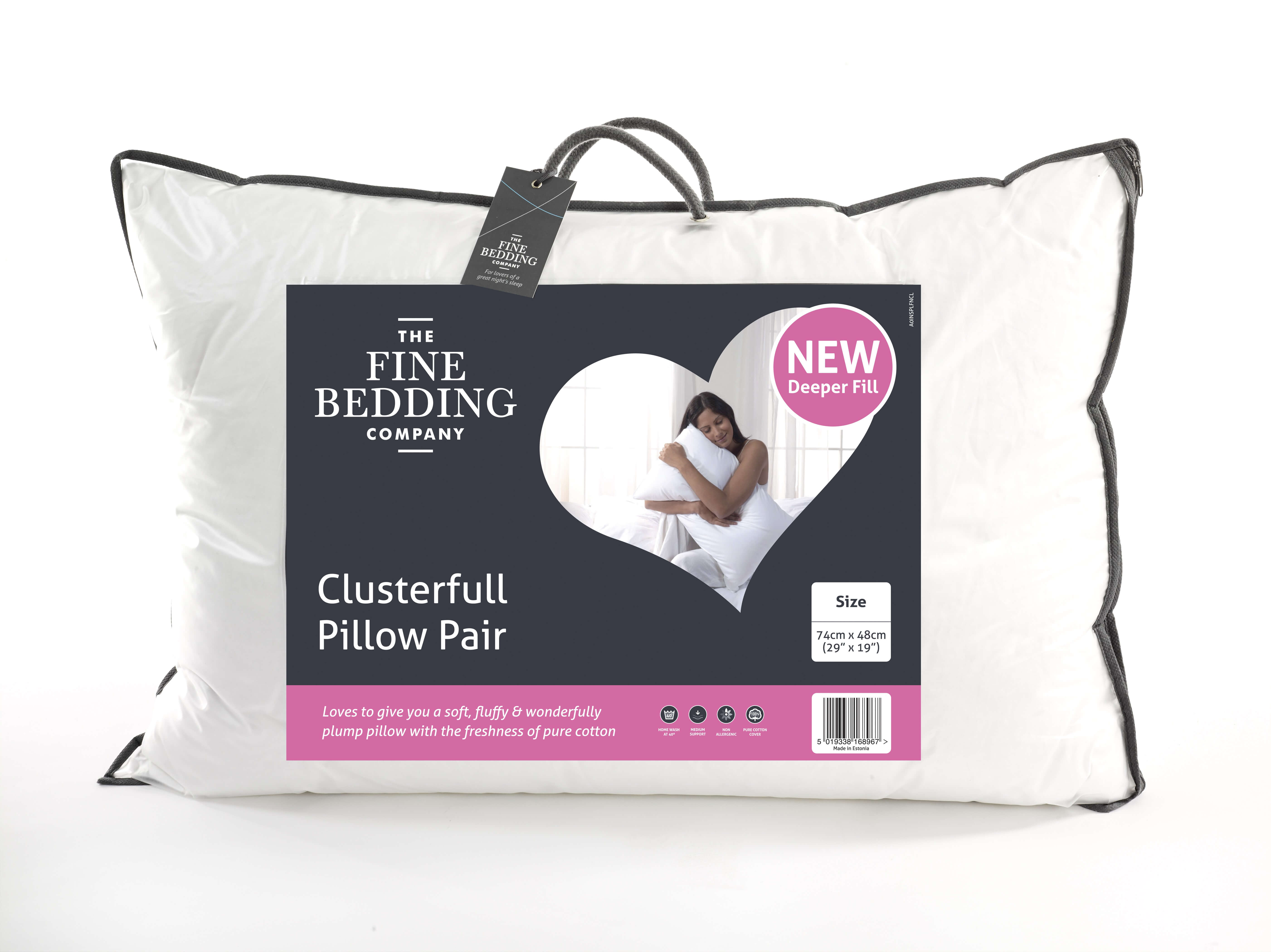 Clusterfull Pillow Pair - The Fine Bedding Company
