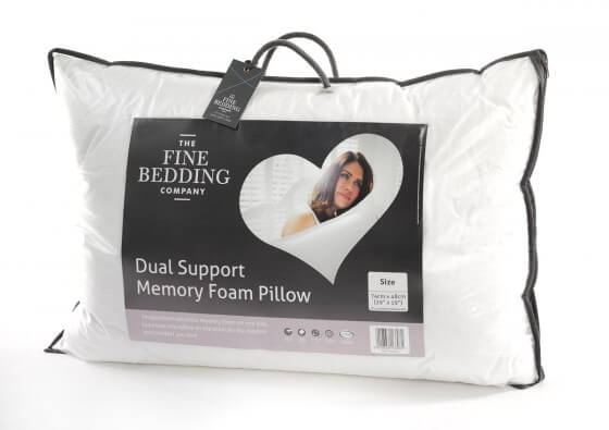 Dual Support Memory Foam Pillow - The Fine Bedding Company