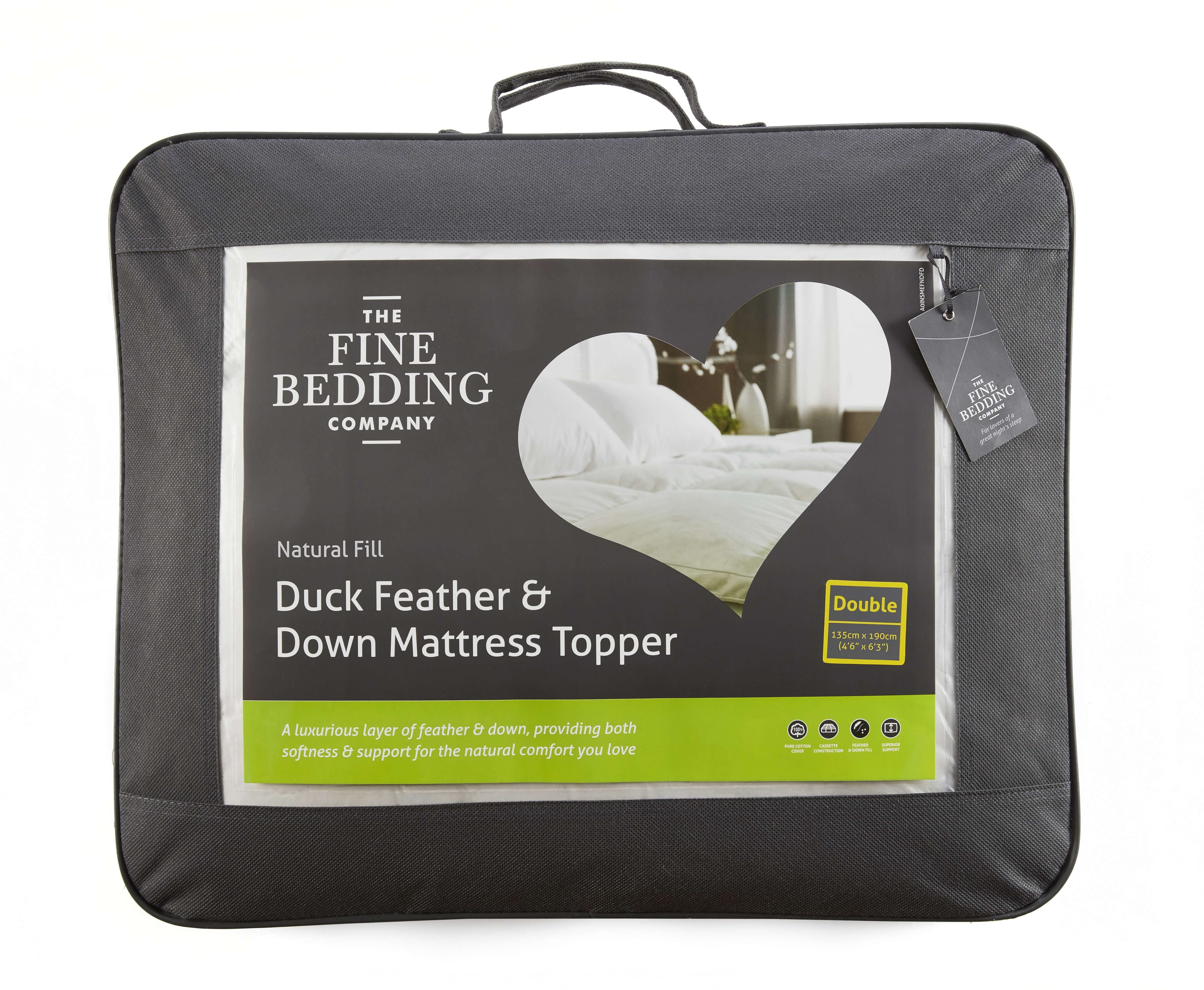 Duck Feather & Down Mattress Topper - The Fine Bedding Company