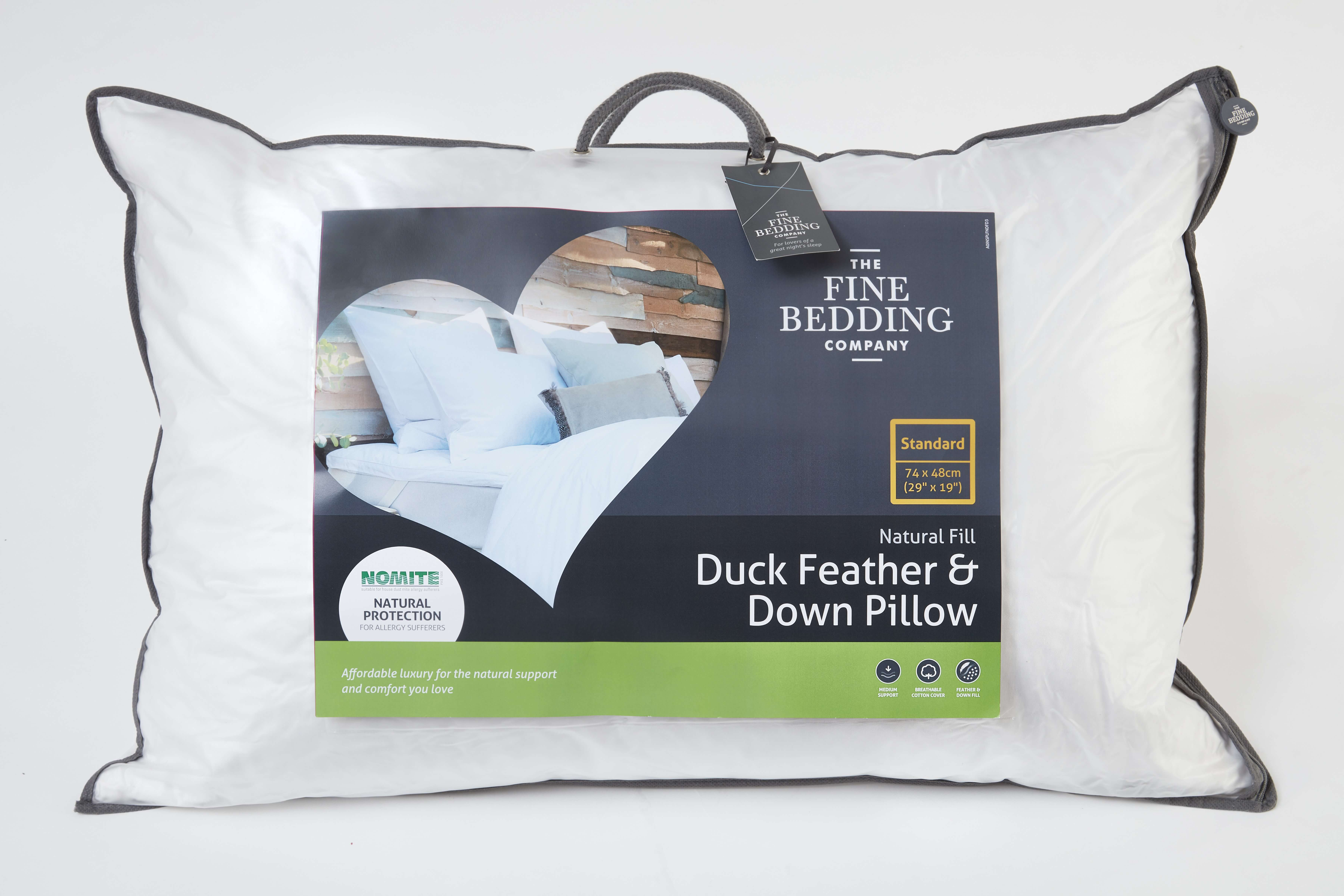 Duck Feather & Down Pillow-The Fine Bedding Company