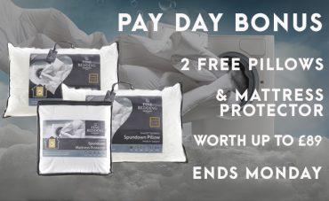 payday bonus free pillows