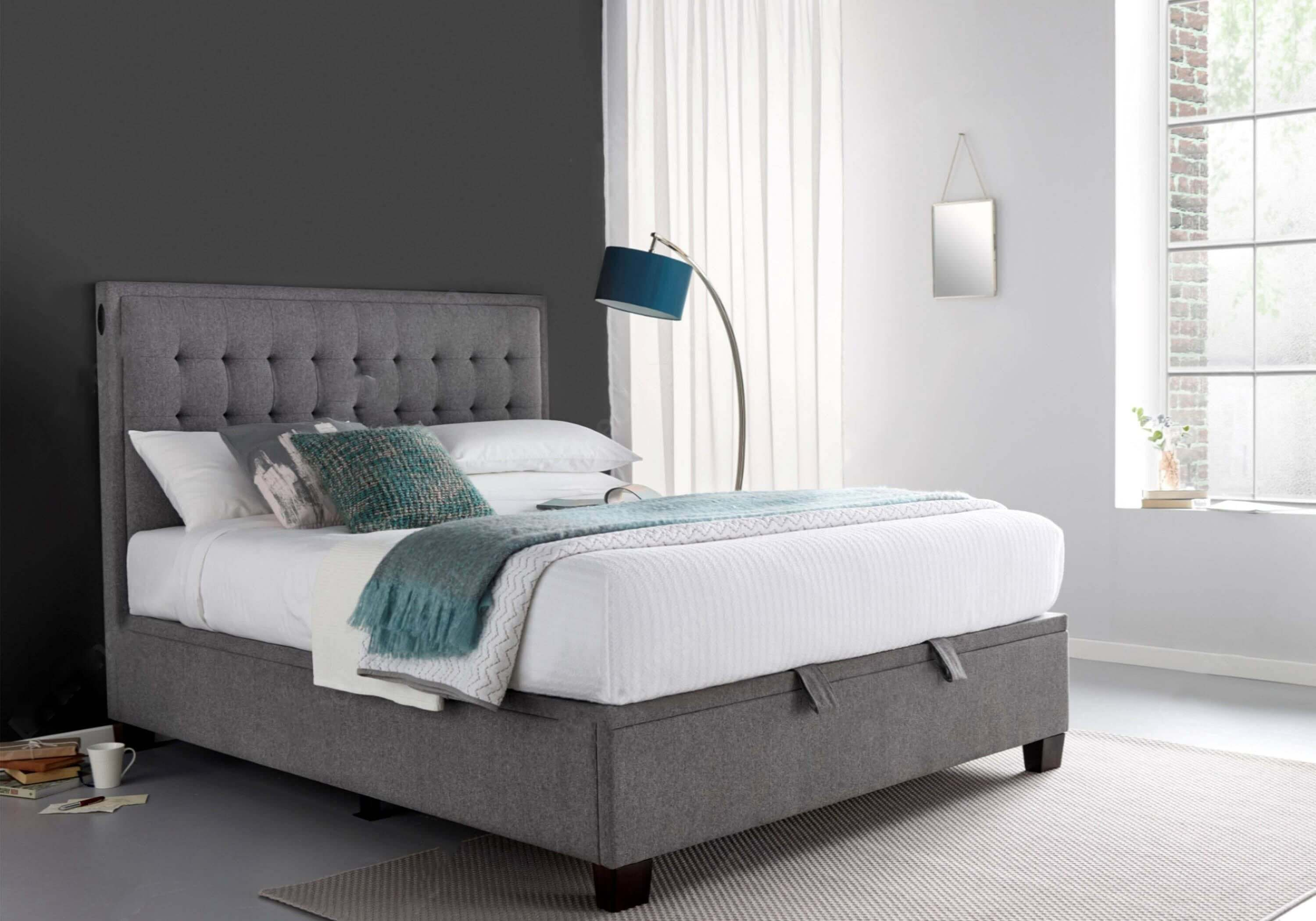 Kaydian Cheviot Electric Ottoman Bed & Alma Mattress Package Deal - 135cm Double Only