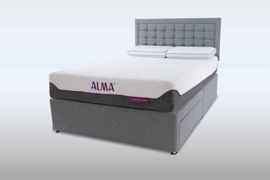 Alma Mattress Divan Set & Headboard Package Deal